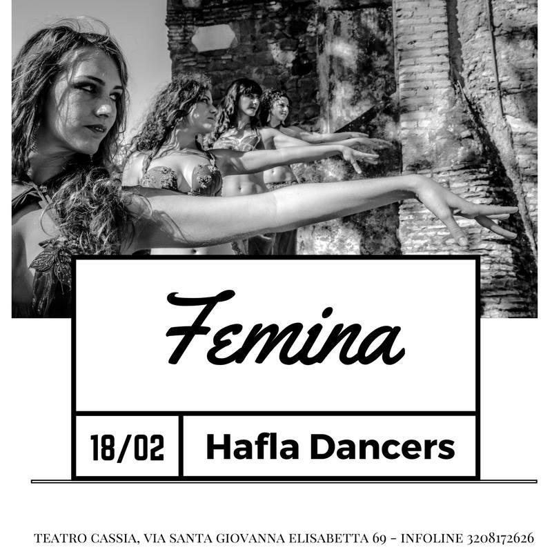 """Locandina dello spettacolo """"Femina"""" delle Hafla Dancers"""